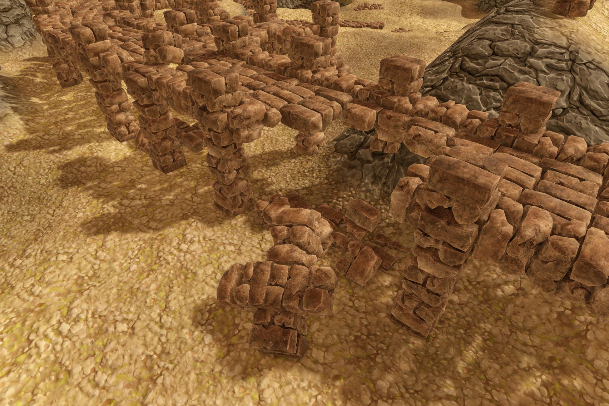 Stylized Stone Ruins