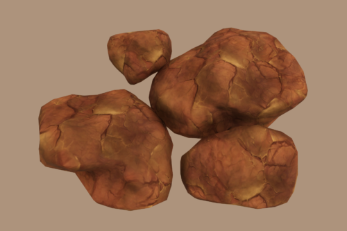 Stylized Rock and Boulders 4 (Desert)