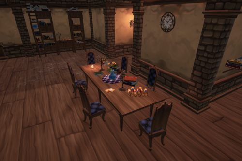 Stylized Library Dungeon