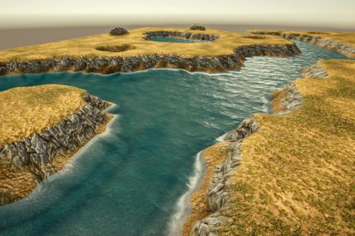 Stylized Modular RiverBank