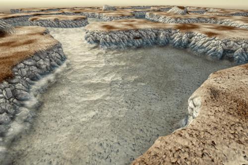 Stylized Modular RiverCliff