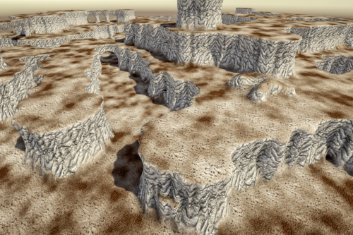 Stylized Modular Cliff 2M